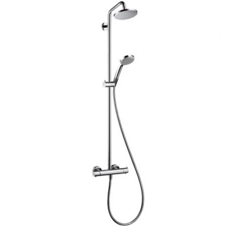 hansgrohe croma 100 showerpipe dn15 ecostat s. Black Bedroom Furniture Sets. Home Design Ideas