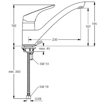 Küchenarmatur Ideal Standard : ideal standard cerasprint neu einhebel k chenarmatur dn15 ~ Avissmed.com Haus und Dekorationen