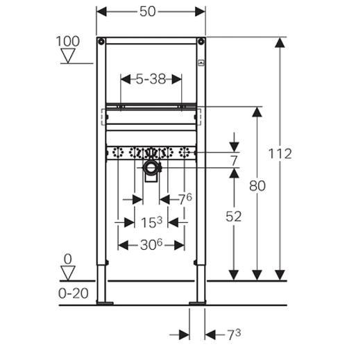 geberit duofix element f r waschtisch 112cm standarmatur. Black Bedroom Furniture Sets. Home Design Ideas