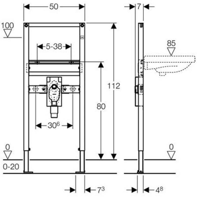 geberit duofix waschtisch f r up geruchsverschluss 112 cm bf f r einlocharmatur. Black Bedroom Furniture Sets. Home Design Ideas