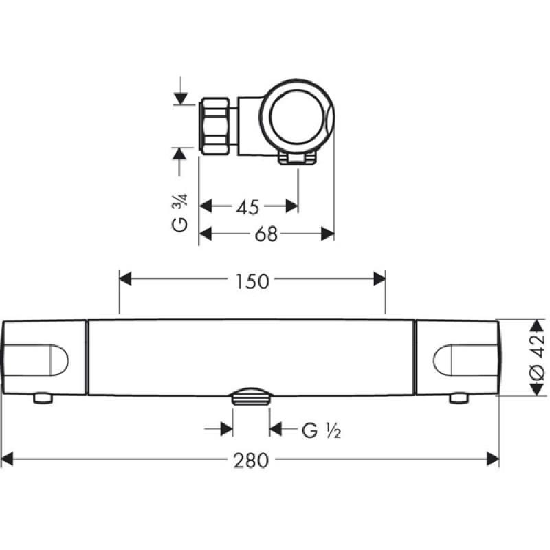 Hansgrohe Ecostat 1001 SL Brause Thermostatbatterie