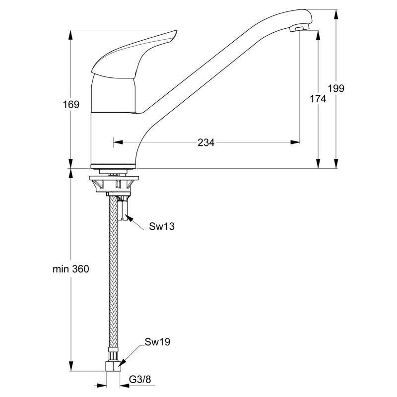 Ideal Standard CeraPlan Neu Einhebel Küchenarmatur DN15