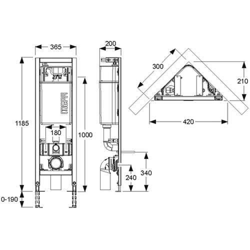 mepa varivit eck wc element mit up sp lkasten sanicontrol e31. Black Bedroom Furniture Sets. Home Design Ideas