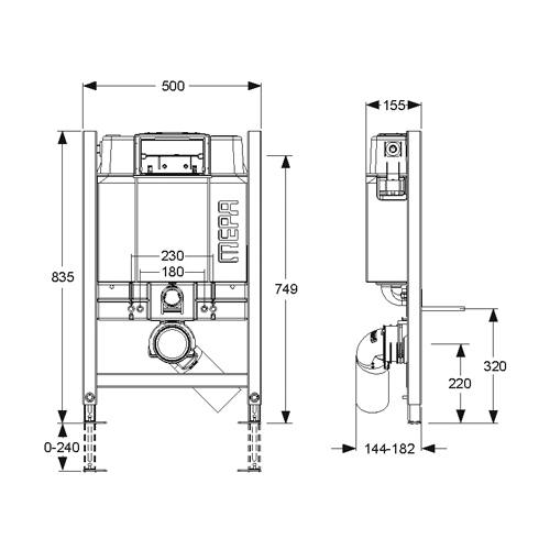 mepa varivit wand wc element mit up sp lkasten sanicontrol b31 system bh85. Black Bedroom Furniture Sets. Home Design Ideas