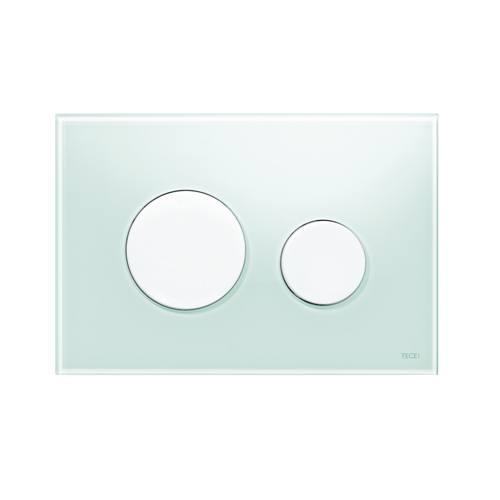 tece teceloop wc bet tigungsplatte zweimengentechnik glas gr n tasten wei. Black Bedroom Furniture Sets. Home Design Ideas